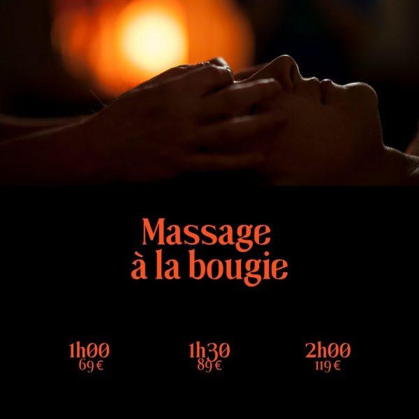 Massage a la bougie 1h 1h30 2h