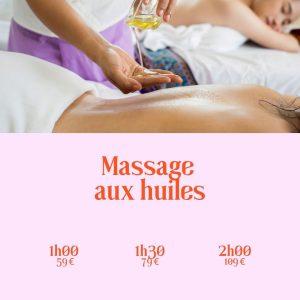 Massage aux huiles 1h 1h30 2h