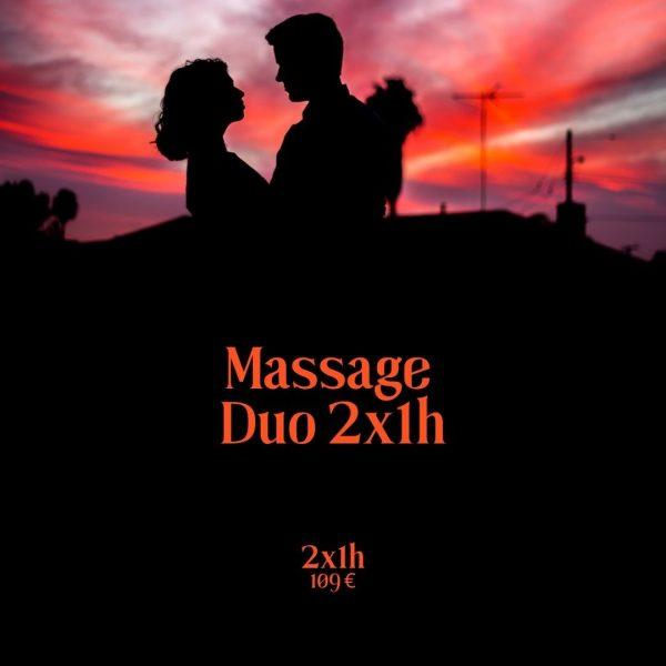 Massage duo 2x1h produit boutique